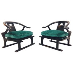 Pair of Ming Style Lounge Chairs by James Mont
