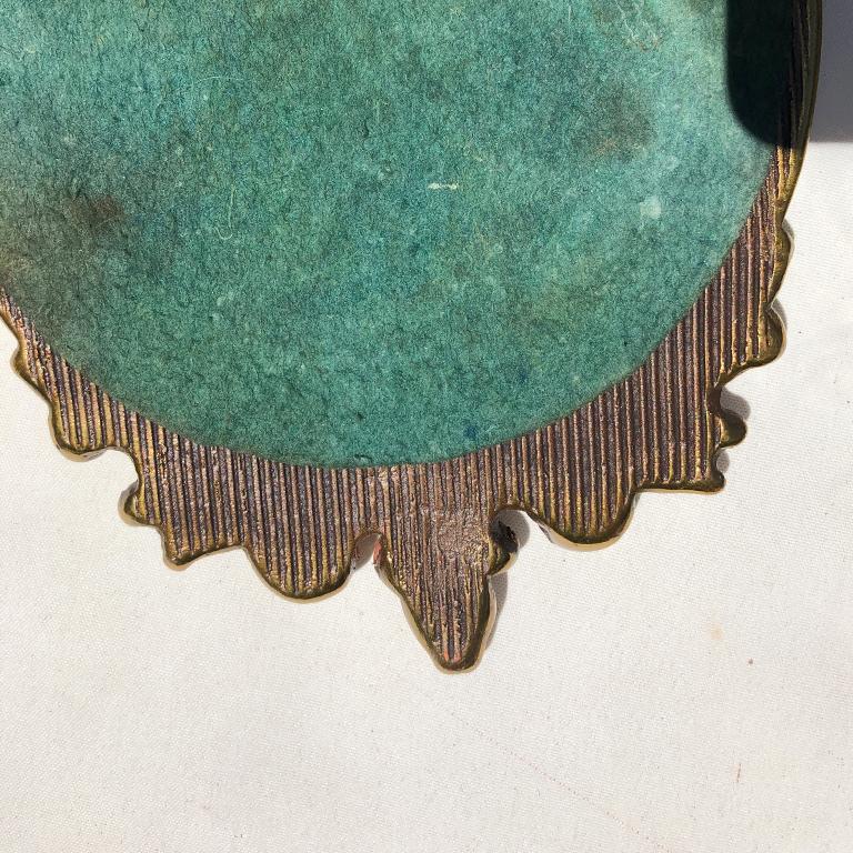 Pair Bull's-Eye Eagle Convex Brass Mirrors Federal 1700s Civil War Era 5