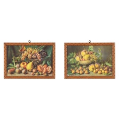 Pair of Miniature Still Life Prints by Guiseppe Falchetti, Italy, 1920s
