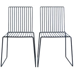 Pair of Minimalist Chairs by French Sculptor François Arnal 1970s