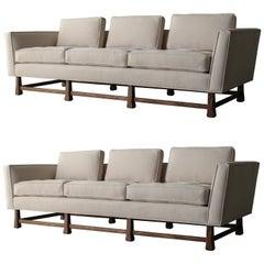 Pair of Minimalist Midcentury Sofas