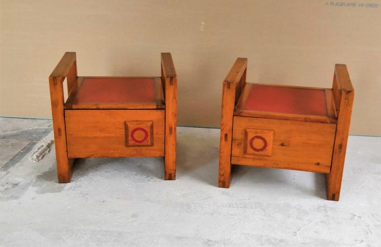 Pair of Minimalist Nightstands in the Style of Charlotte Perriand, 1960s For Sale 1