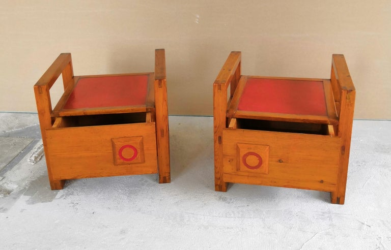 Pair of Minimalist Nightstands in the Style of Charlotte Perriand, 1960s For Sale 5
