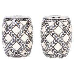 Pair of Minton Porcelain Garden Seats