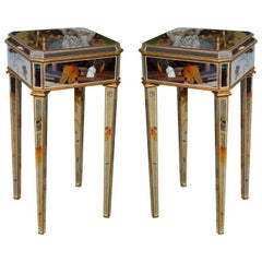 "Pair of Mirror ""Beechtree"" Design End Tables"