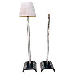 """Pair of """"Mirror"""" Floor Lamps, Italian Work, 1960's"""