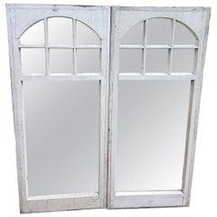 Pair of Mirrored Edwardian Sunroom Frames