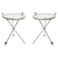 Pair of Mirrored Tables