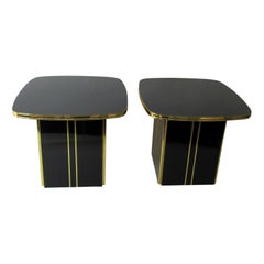 1980s Mirror Top Tables Pair