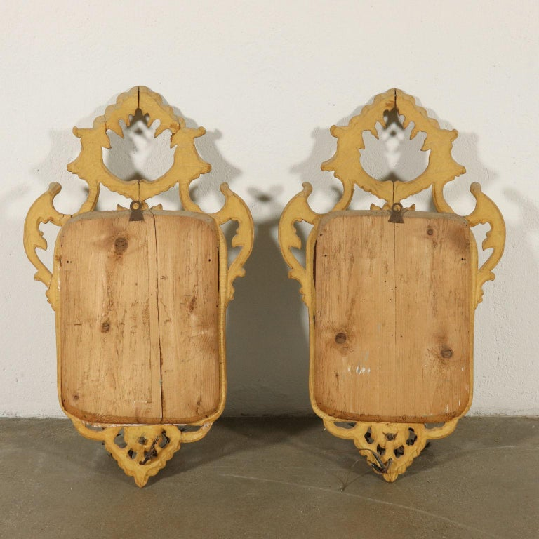 Pair of Mirrors Rococo, Italy, Mid-19th Century For Sale 3