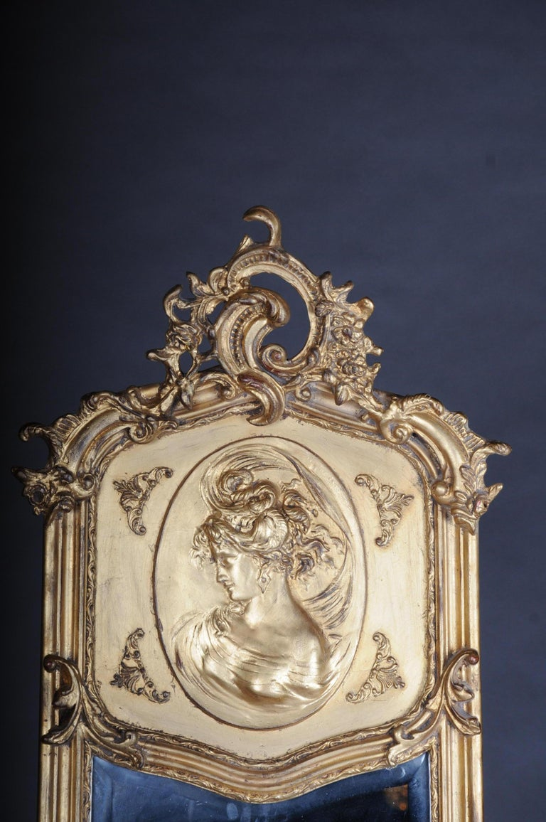 French Pair of Mirrors or Wall Mirror in Louis XV / Baroque Style For Sale