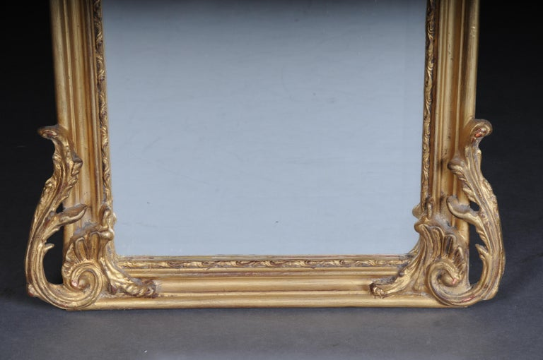 Hand-Carved Pair of Mirrors or Wall Mirror in Louis XV / Baroque Style For Sale