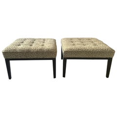 Pair of Mitchell Gold Bob Williams Ottomans