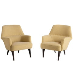 Pair of Mod Armchairs by Bergamo Isa, Italy, circa 1950
