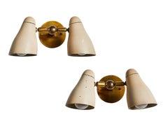 "Pair of Model 122 ""Doppia Vipera"" Sconces by Giuseppe Ostuni for O-luce"
