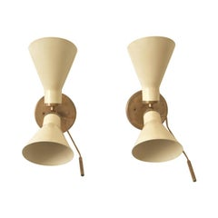 Pair of Model 131 Articulating Sconces by Gino Sarfatti