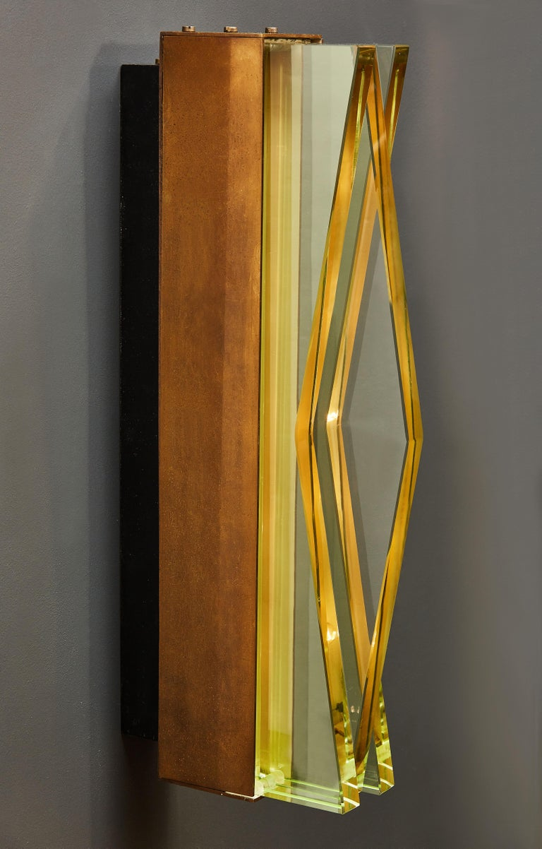 Italian Pair of Model 1829 Wall Sconces by Max Ingrand for Fontana Arte For Sale