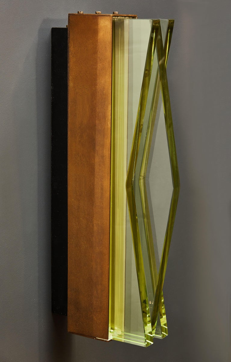 Pair of Model 1829 Wall Sconces by Max Ingrand for Fontana Arte In Good Condition For Sale In Saint-Ouen, IDF