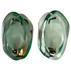 Pair of Model 2093 Sconces by Max Ingrand for Fontana Arte