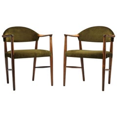"Pair of ""Model 223"" Armchairs by Kurt Olsen for Slagelse Møbelværk, Denmark 19"