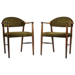 """Pair of """"Model 223"""" Armchairs by Kurt Olsen for Slagelse Møbelværk, Denmark, 19"""
