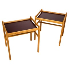Pair of Model 5372 Oak Side Tables by Børge Mogensen, Denmark, 1950s