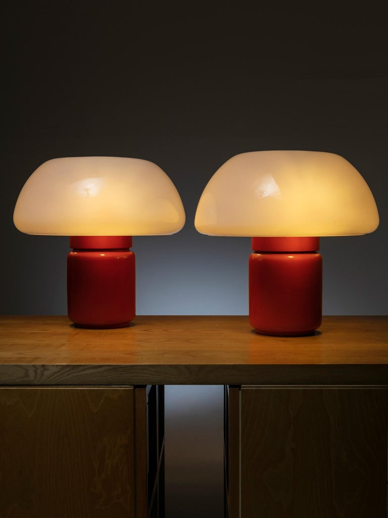 Set of two table lamps model 625 by Elio Martinelli for Martinelli Luce.