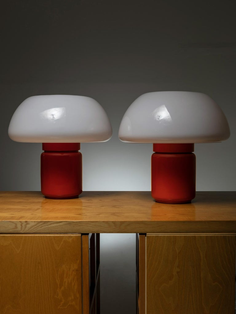 Space Age Pair of Model 625 Desk Lamps by Elio Martinelli for Martinelli Luce For Sale