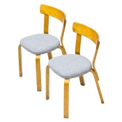 Pair of Model 69 Chairs by Alvar Aalto