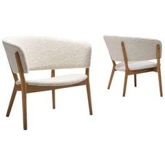 """Pair of """"Model 83"""" Armchairs by Nanna Ditzel for Søren Willadsen, Denmark, 1952"""