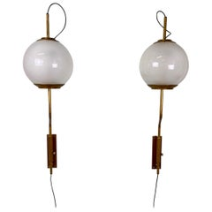 "Pair of Model Lp11 ""Pallone"" Wall Lights by Luigi Caccia Dominioni for Azucena"