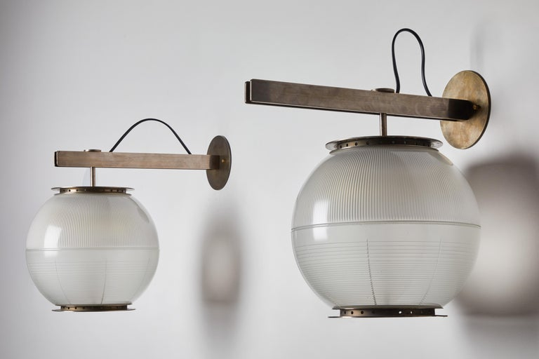 Mid-20th Century Pair of Model Lp7 Sconces by Ignazio Gardella for Azucena For Sale