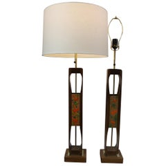Pair of Modeline Lamps