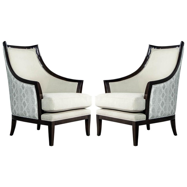 Modern Art Deco Style Curved Back