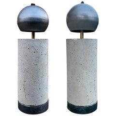 Pair of Modern Brutalist Lamps