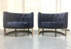 Pair of Modern Cerused Lounge Chairs