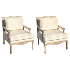 Pair of Modern French Style Kreiss Collection Lounge Chairs