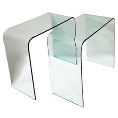 Pair of Modern Glass Side Tables