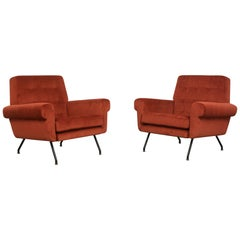 Pair of Modern Italian Lounge Chairs