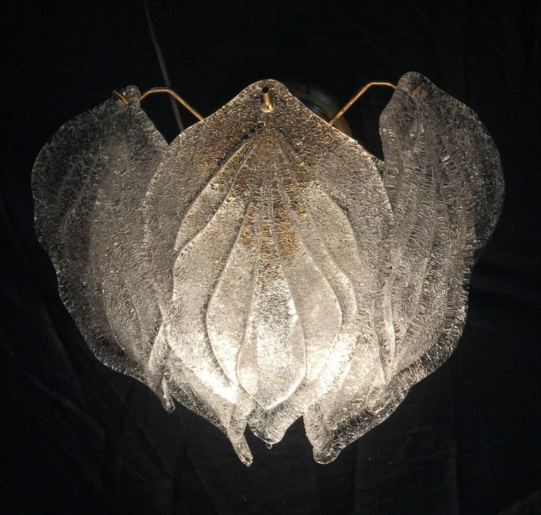 Pair of Modern Italian Murano Polar Ice Wall Lights or Sconces, 1970  For Sale 4