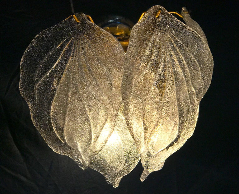 Pair of Modern Italian Murano Polar Ice Wall Lights or Sconces, 1970  For Sale 5