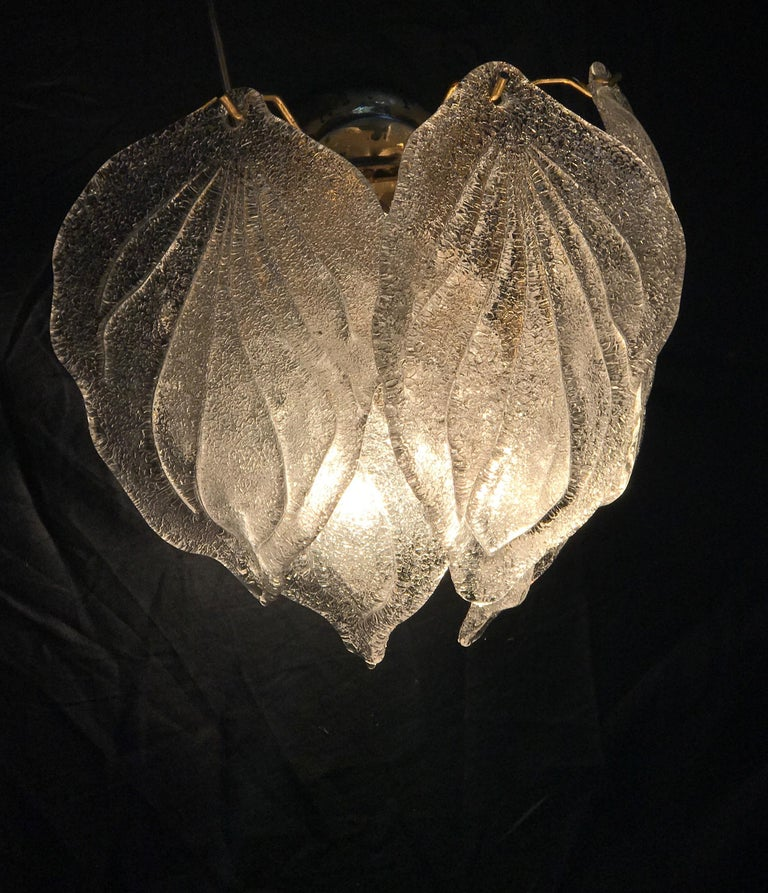 Pair of Modern Italian Murano Polar Ice Wall Lights or Sconces, 1970  For Sale 2