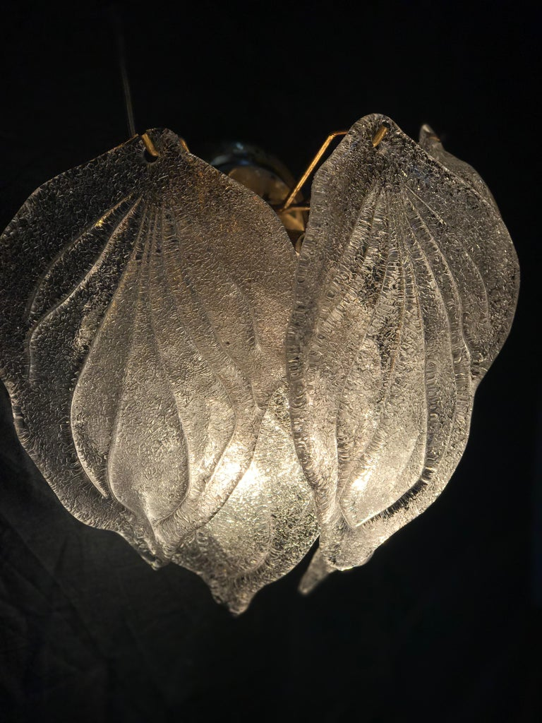Pair of Modern Italian Murano Polar Ice Wall Lights or Sconces, 1970  For Sale 3