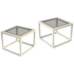 Pair of Modern Lacquered Side Tables