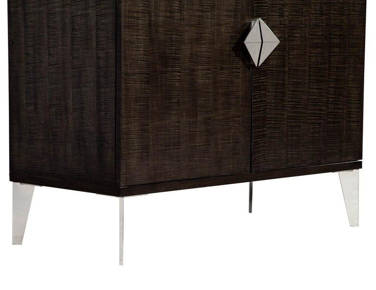 Pair of Modern Lacquered Sycamore Chests For Sale 4