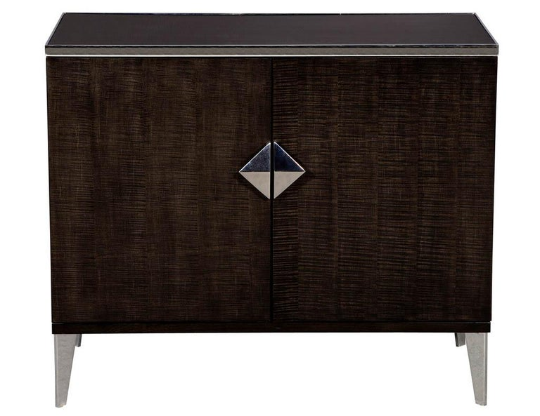 Contemporary Pair of Modern Lacquered Sycamore Chests For Sale