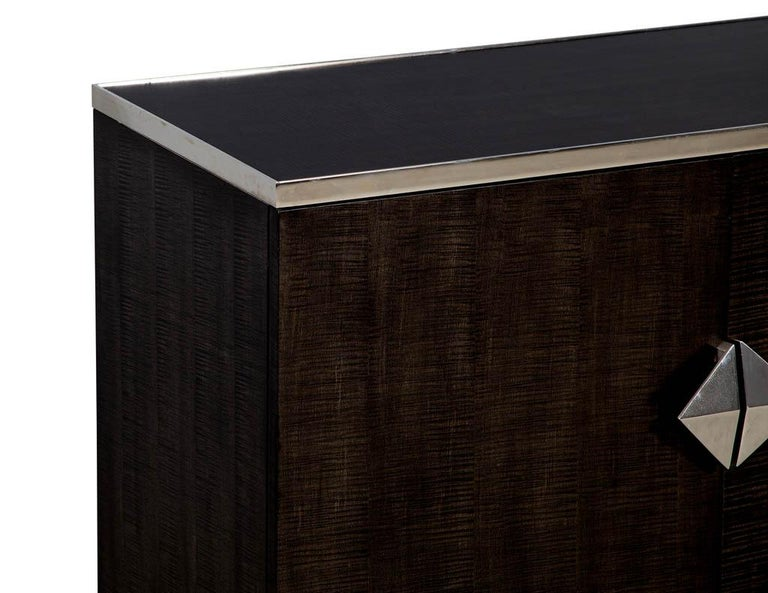 Pair of Modern Lacquered Sycamore Chests For Sale 1