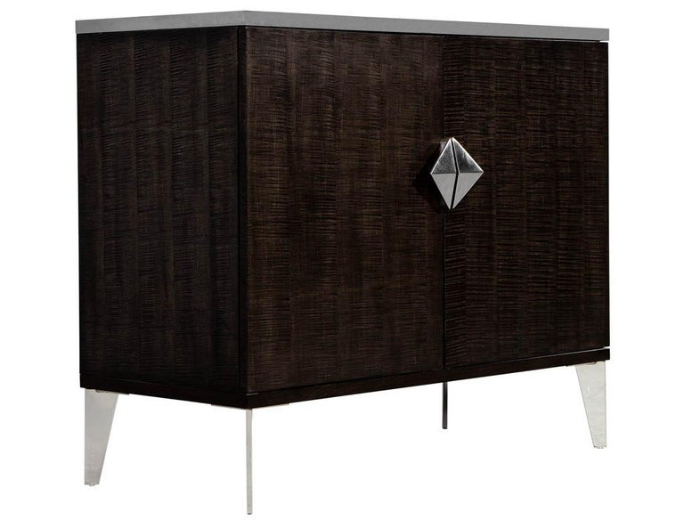 Pair of Modern Lacquered Sycamore Chests For Sale 3