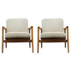 Pair of Modern Lewis Butler for Knoll Lounge Chairs Model No. 655