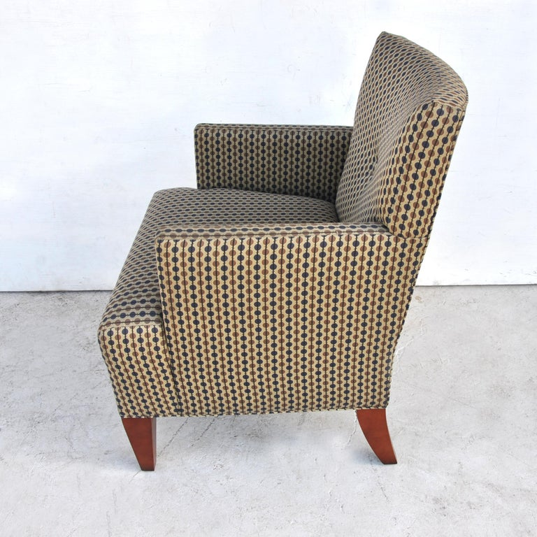 American Pair of Modern Lounge Chairs by Hickory Furniture For Sale